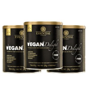 Kit 3 -Vegan Delight leite vegetal 250g Essential Nutrition