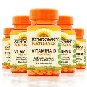 Kit 5 Vitamina D3 Sundown 100 Comprimidos
