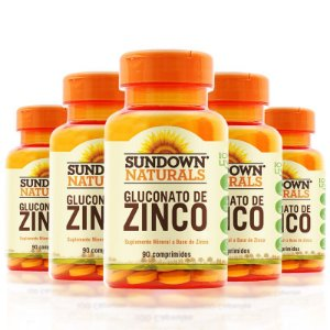 Kit 5 Zinco 7mg Sundown 90 Comprimidos