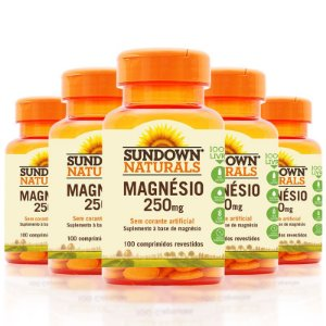 Kit 5 Magnésio 250mg Sundown 100 Cápsulas