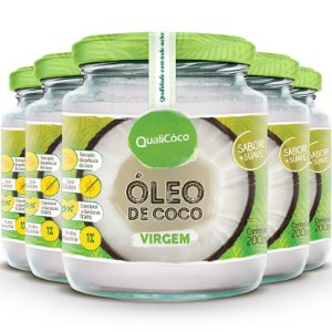 Kit 5 Óleo de Coco Virgem 200ml Qualicôco