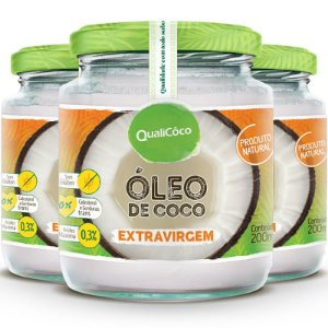 Kit 3 Óleo de Coco Extra Virgem 200ml Qualicôco