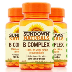 Kit 3 Complexo B Sundown 100 Comprimidos