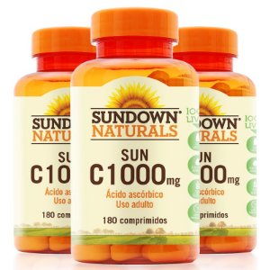 Kit 3 Vitamina C 1000mg Sundown 180 Tablets