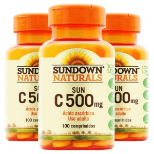 Kit 3 Vitamina C 500mg Sundown 100 Tablets