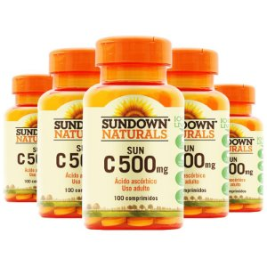 Kit 5 Vitamina C 500mg Sundown 100 Tablets