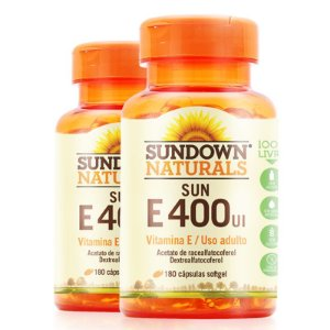 Kit 2 Vitamina E 400 UI Sundown 180 cápsulas