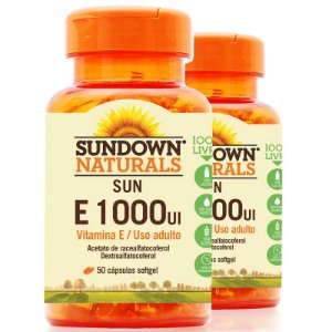 Kit 2 Vitamina E 1000 IU Sundown 50 cápsulas
