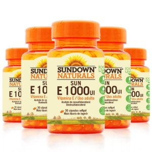 Kit 5 Vitamina E 1000 Ui Sundown 30 Cápsulas