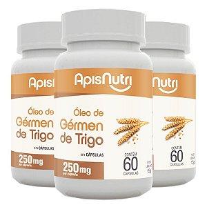 Kit 3 Óleo de Gérmen de Trigo Apisnutri 60 Cápsulas