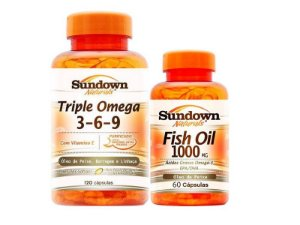 Kit Triple Ômega 3 6 e 9 120 Cáps + Fish Oil 60 Cáps Sundown