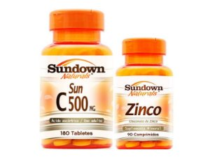 Kit Vitamina C 180 Cáps + Zinco 90 Cáps Sundown