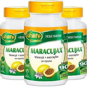 Kit 3 Maracujax Unilife 90 Cápsulas