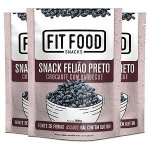 Kit 3 Snack Feijão Preto Barbecue Fit Food 100g