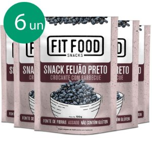Kit 6 Snack Feijão Preto Barbecue Fit Food 100g