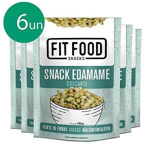 Kit 6 Snack Edamame Levemente Salgado Fit Food 100g