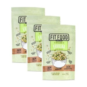 Kit 3 Snack Ervilha Wasabi Fit Food 100g