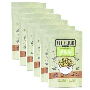 Kit 6 Snack Ervilha Wasabi Fit Food 100g