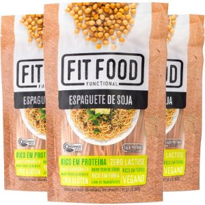 Kit 3 Espaguete de Soja Fit Food 200g