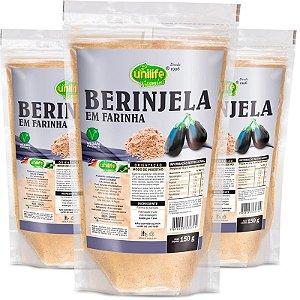 Kit 3 Farinha de Berinjela Unilife 150g