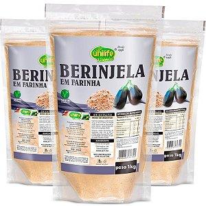Kit 3 Farinha de Berinjela Unilife 1kg