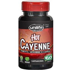 Pimenta Cayenne Hot Pimenta,Canela e Gengibre Unilife 60 Cápsulas