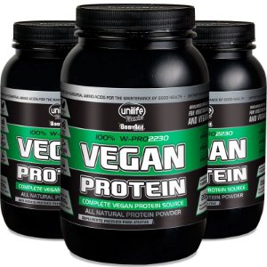 Kit com 3 Vegan protein Chocolate 900g proteína vegetal Unilife