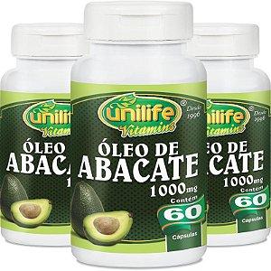 Kit com 3 Óleo de abacate 60 cápsulas Unilife