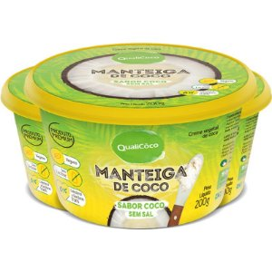 Kit 3 Manteiga de Coco Natural Qualicôco 200g