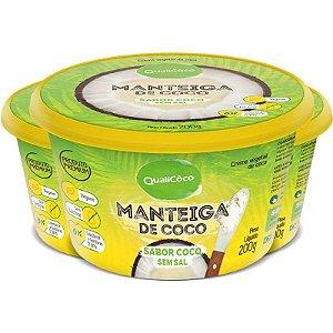 Kit 3 Manteiga de Coco Natural Qualicôco 200g