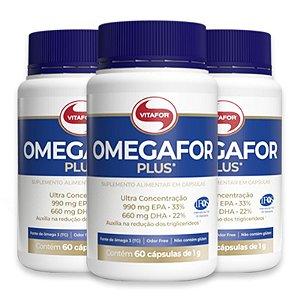 Kit 3 Ômegafor Plus 1000mg Vitafor 60 cápsulas