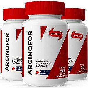 Kit 3 Arginina Arginofor Vitafor 60 cápsulas