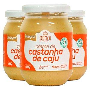 Kit 3 Manteiga de castanha de caju 220g Benni alimentos