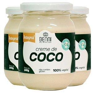 Kit 3 Creme de coco 240g Benni alimentos