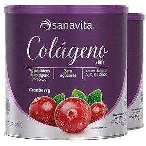 Kit 2 Colágeno hidrolisado Cranberry Sanavita 300g