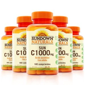 Kit 5 Vitaminas C 1000mg Sundown 180 Tablets