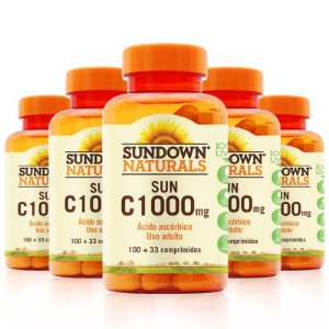 Kit 5 Vitaminas C 1000mg Sundown 100 Tablets