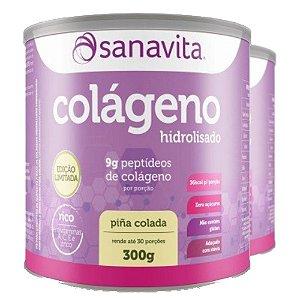 Kit 2 Colágeno hidrolisado pina colada Sanavita 300g
