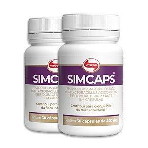 Kit 2 Simcaps Mix de Probióticos Vitafor 30 cápsulas