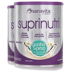 Kit 2 Suprinutri ganho de peso Sanavita Baunilha 400G