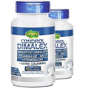 Kit 2 Condrol Dimalex 1000mg Unilife 60 Comprimidos