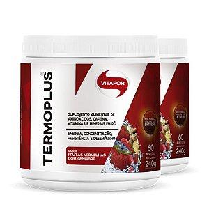 Kit 2 Termo Plus termogênico Vitafor frutas vermelhas 240g