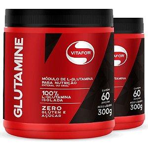 Kit 2 L-Glutamina  Glutamine Vitafor 300G