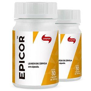 Kit 2 Epicor Levedo de Cerveja Vitafor 30 cápsulas