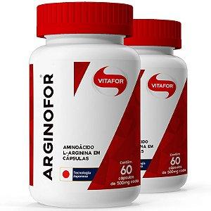 Kit 2 Arginina Arginofor Vitafor 60 cápsulas