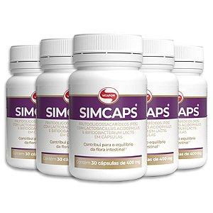 Kit 5 Simcaps Mix de probióticos Vitafor 30 cápsulas