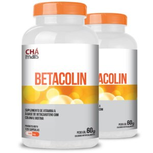 Kit 2 Betacolin Vitamina A 500mg Chá Mais 120 cápsulas