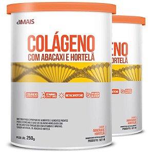 Kit 2 Colágeno Hidrolisado com Betacaroteno Chá Mais 250g
