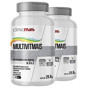 Kit 2 Multimais Polivitamínico 550g Chá mais 120 cápsulas