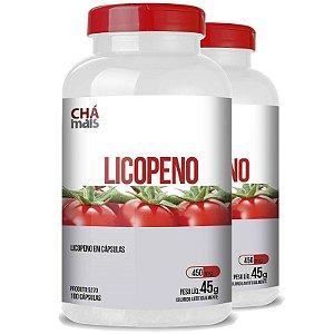 Kit 2 Licopeno Vitamina E 450mg Chá Mais 100 cápsulas